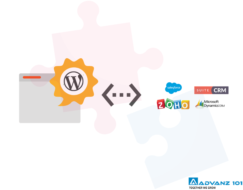 wordpress integration with crm